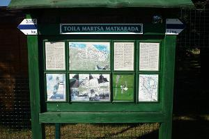 Toila-Martsa hiking trail – a stand near Toila SPA
