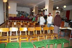 - inside view of the hall